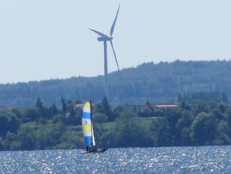 Farma wiatrowa nad Zatoką Pucką