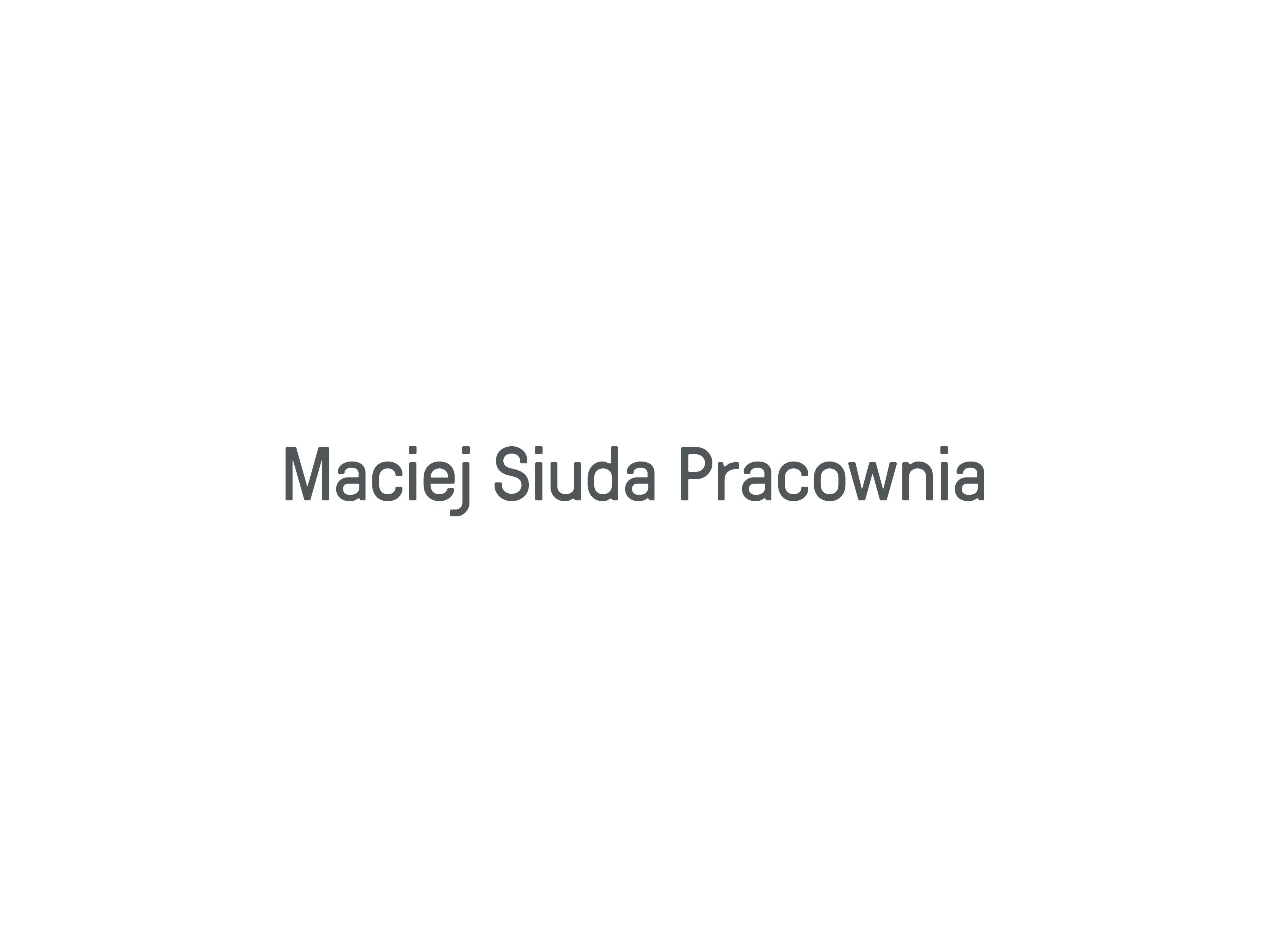 Pracownia Macieja Siudy
