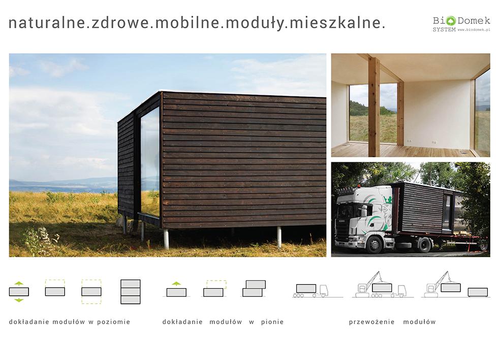 Biodomek – system naturalnych, mobilnych modułów mieszkalnych