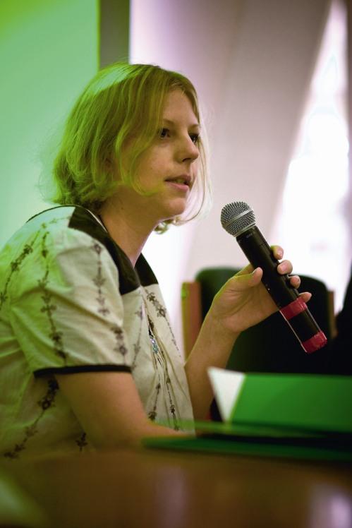 Dorota Sibińska, moderatorka panelu Technologia, materiały, narzędzia. Młodzi do Łodzi 2008