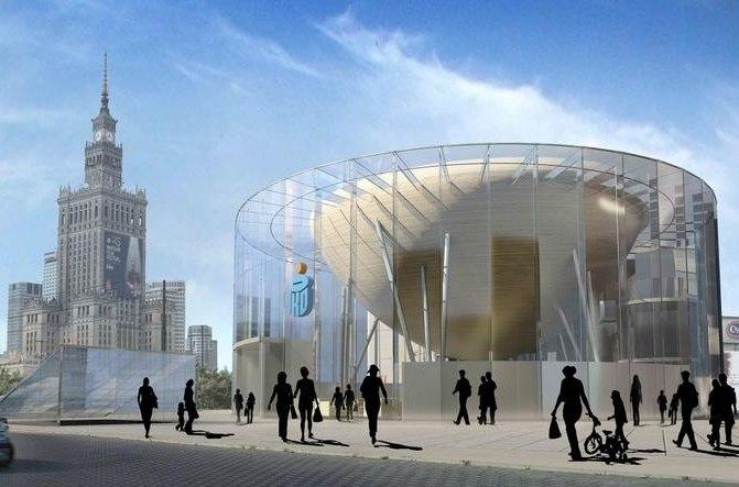 Projekt nagrodzony w ogłoszonym w 2009 roku konkursie na koncepcję Nowej Rotundy PKO. Autorzy: KD Kozikowski Design