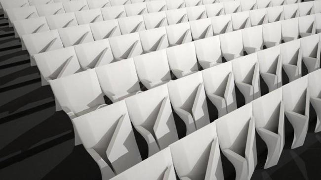 Zaha Hadid: siedziska Array, przeznaczone do sal widowiskowych i audytoriów; prezentacja - Mediolan 2013