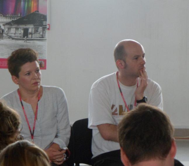 Marlena Happach, Hubert Trammer. Młodzi do Łodzi 2013, panel dyskusyjny 18 maja