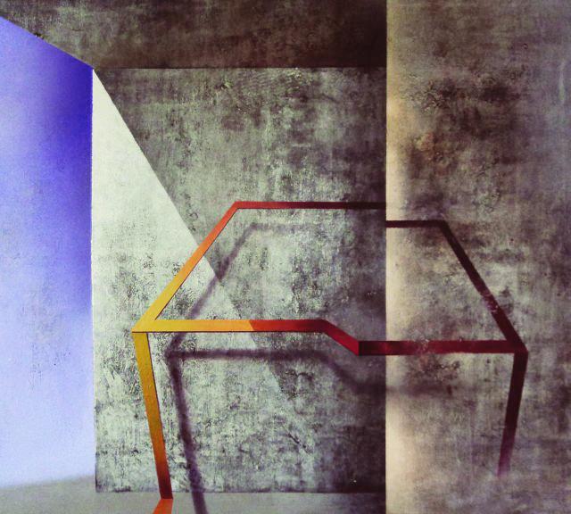 Karolina Jaklewicz, Graffiti IV. Muzeum Architektury we Wrocławiu, wystawa Dyfuzja. Inspiracje architekturą w malarstwie