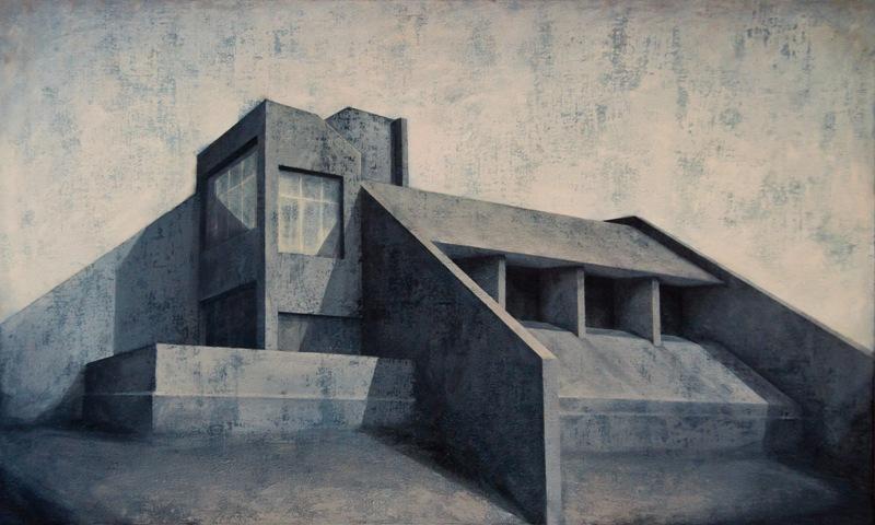 Joanna Pałys, Element modernistyczny... Muzeum Architektury we Wrocławiu. Wystawa Dyfuzja. Inspiracje architekturą w malarstwie