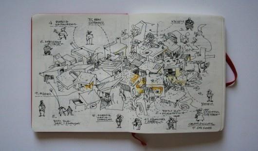 Rogóżka. Szkic, Jednorazowe Laboratorium Architektury. Fot. materiały prasowe Muzeum Architektury we Wrocławiu