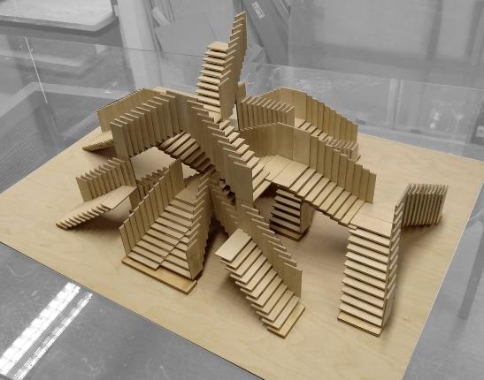 Niekończące sie schody. Autor: Alex de Rijke, dRMM. Fot. materiały prasowe AHEC