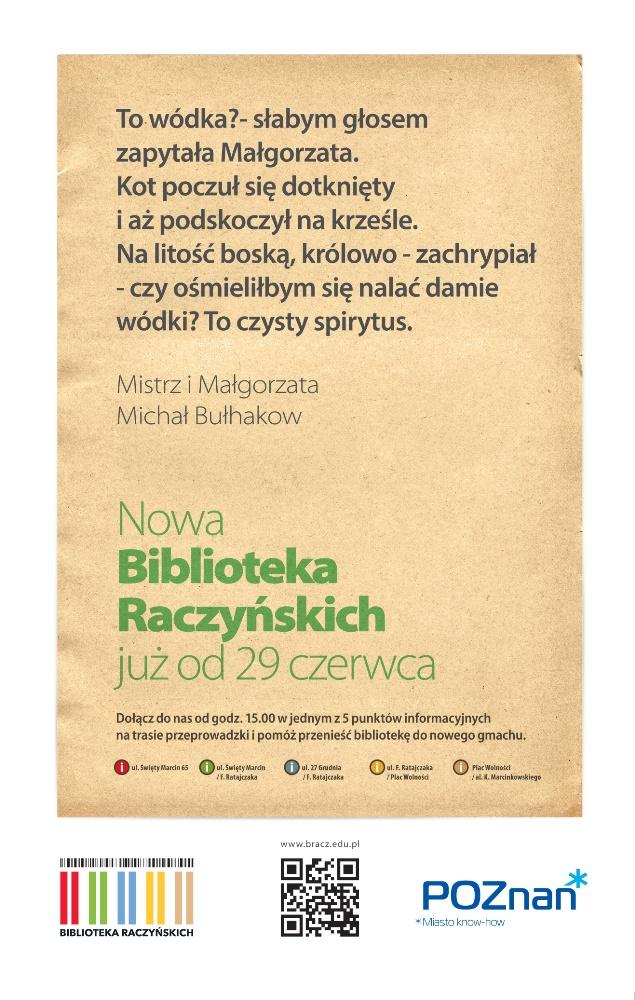 Biblioteka Raczyńskich w Poznaniu: zaproszenie na uroczyste otwarcie 29 czerwca 2013
