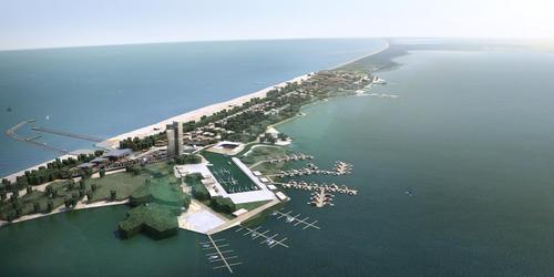 Beach City; na mierzei oddzielającej Bałtyk od jeziora Jamno powstać ma nowe miasteczko. Fot. Firmus Group
