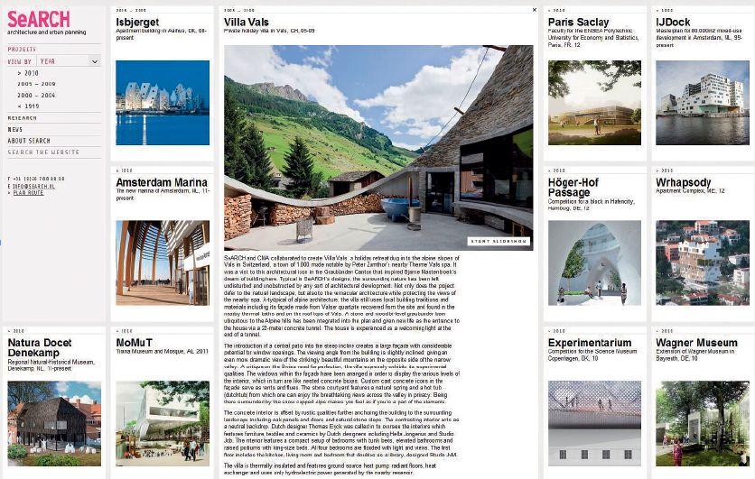 Strona internetowa holenderskiego biura architektonicznego SeARCH: www.search.nl