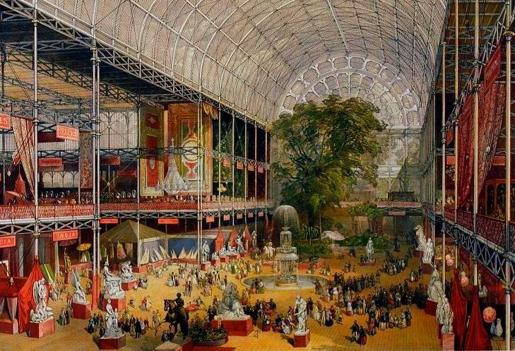Wnętrze Pałacu Kryształowego, 1851