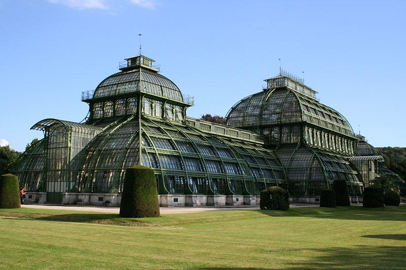 Palmiarnia w Pałacu Schönbrunn, Wiedeń, Austria. Fot> RobertG, Wikimedia Commons