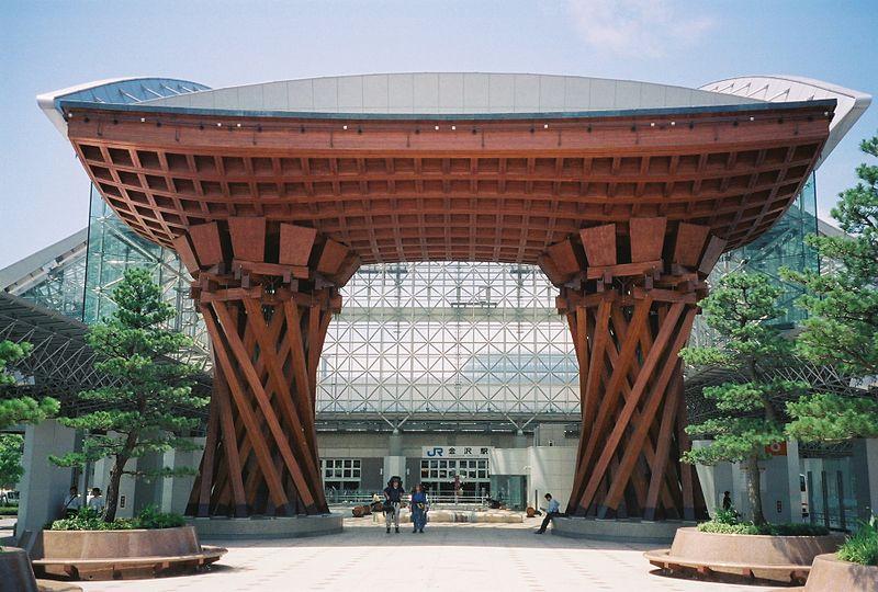 Dworzec kolejowy Kanazawa w Japonii, Brama Bębnów/ Tsuzumi Gate, 2005