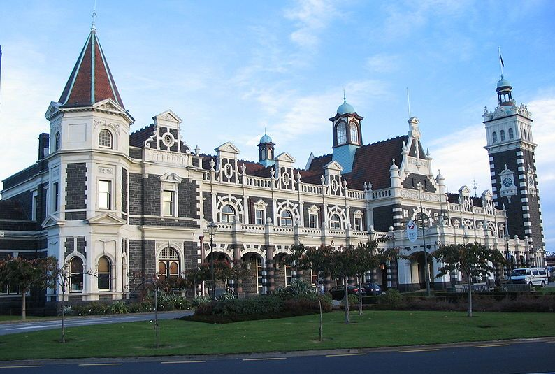 Dworzec kolejowy w Nowej Zelandii