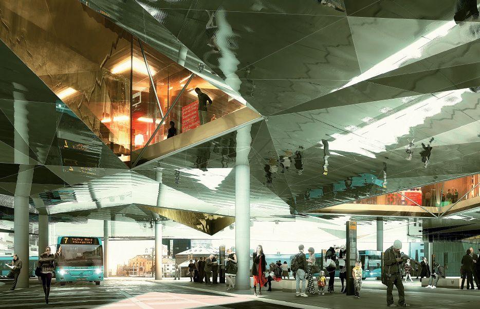 Aarhus dworzec autobusowy. Fot. COBE, www.cobe.dk