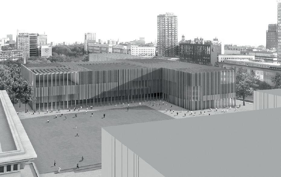 III nagroda w konkursie opracownaie koncepcji architektonicznej projektu MSN. Autorzy: Atelier WW Architekten SIA Szwajcaria