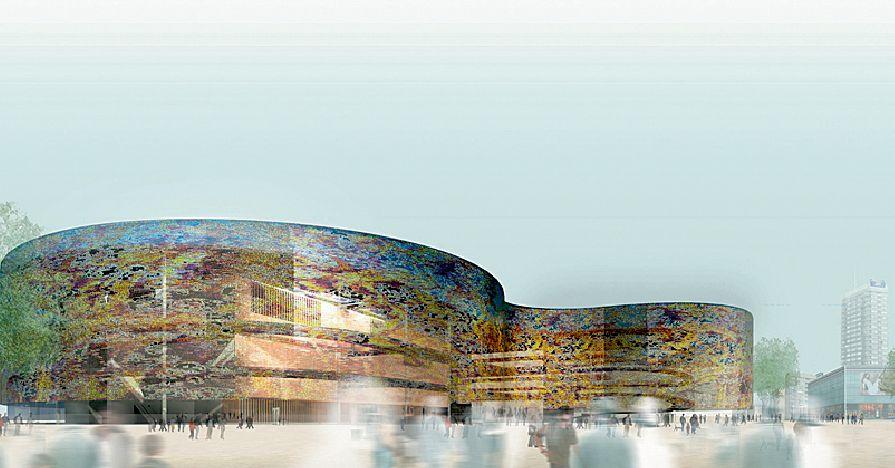Wyróżnienie. Autorzy: Tectoniques – Alain Vargas Francja\Polska. Koncepcja architektoniczna nowej siedziby Muzeum Sztuki Nowoczesnej
