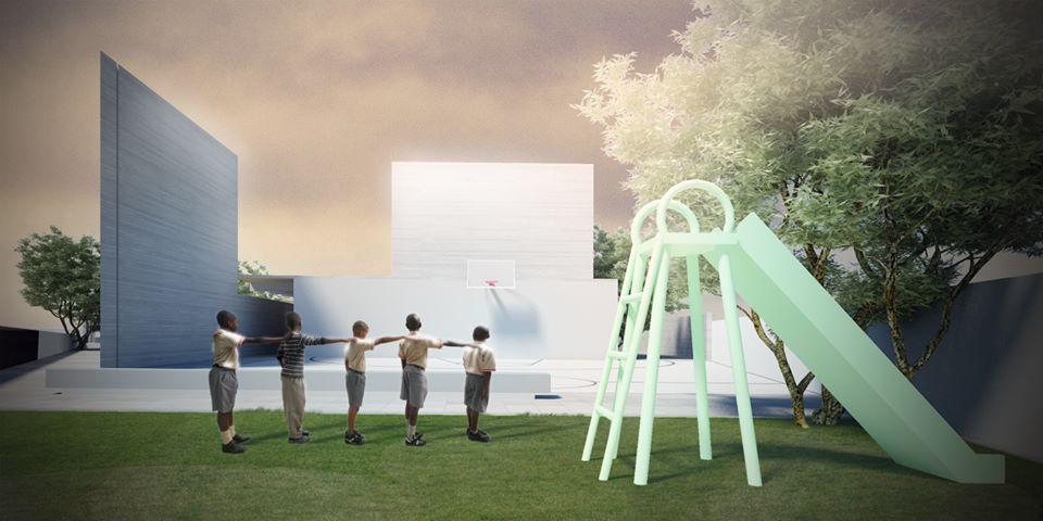 Konkursowy projekt szkoly w Jacmel na Haiti, 2012. +48 Grupa Projektowa. Fot. materiały prasowe Muzeum Architektury we Wrocławiu