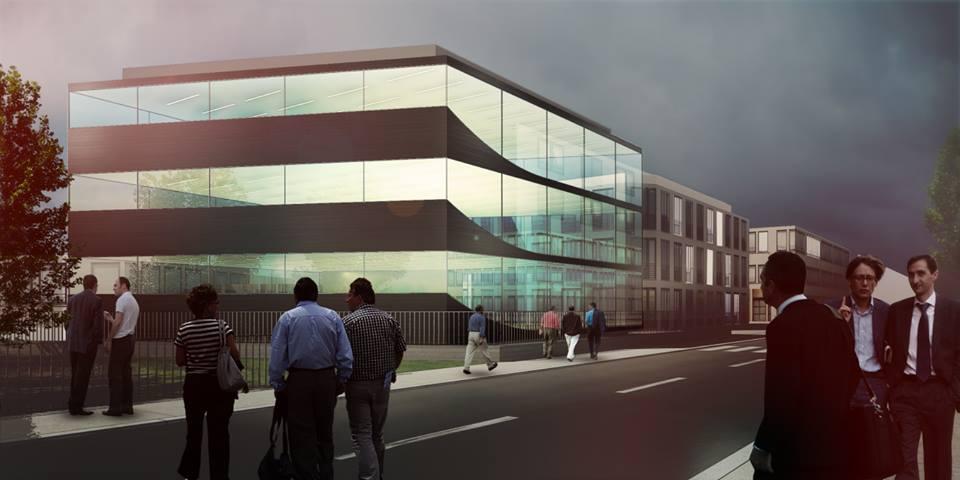 Biurowiec w Łomiankach, projekt 2011-2013, planowane rozpoczęcie realizacji 2014. +48 Grupa Projektowa