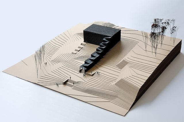 No99; makieta tymczasowego teatru w Tallinie. Fot. materiały prasowe Mies van der Rohe Award