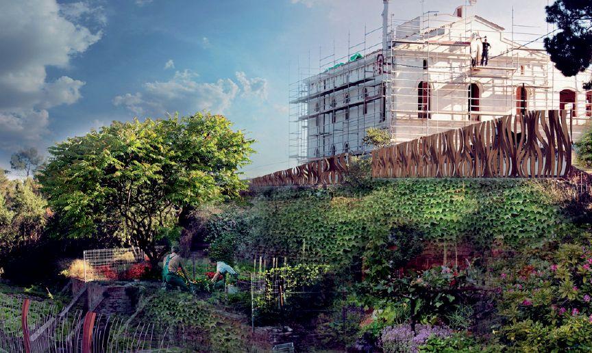 Projekt ogrodzenia posiadłości Valladura, Hiszpania. Fot. Guallart Architects