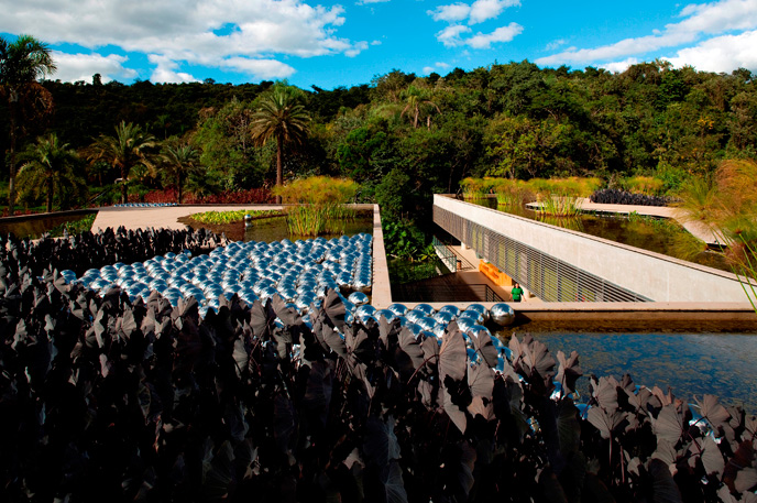 Współczesna architektura Brazylii: Burle Marx Education Center in Inhotim, Brumadinho\MG Arquitetos Associados © Leonardo Finotti; materiały prasowe Deutsches Architekturmuseum