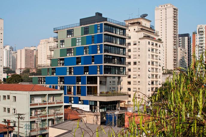 Współczesna architektura Brazylii: João Moura Building, São Paulo\SP, Nitsche Arquitetos Associados, © Leonardo Finotti, materiały prasowe Deutsches Architekturmuseum