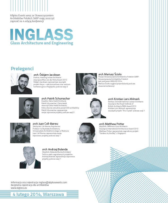 Międzynarodowa konferencja architektoniczna INGLASS  2014