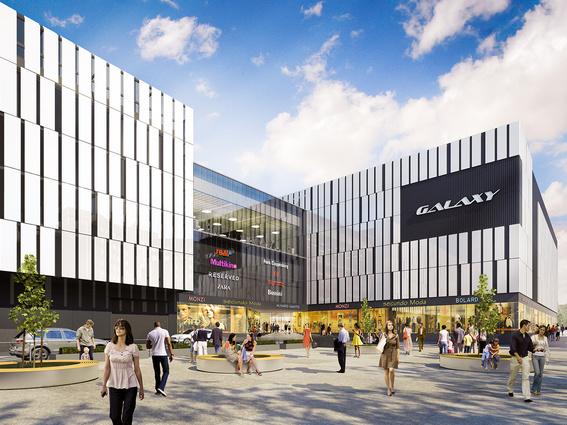 Centrum handlowo-rozrywkowe Galaxy, nowa inwestycja w Szczecinie. Projekt rozbudowy centrum handlowego przygotowała pracownia Open Architekci
