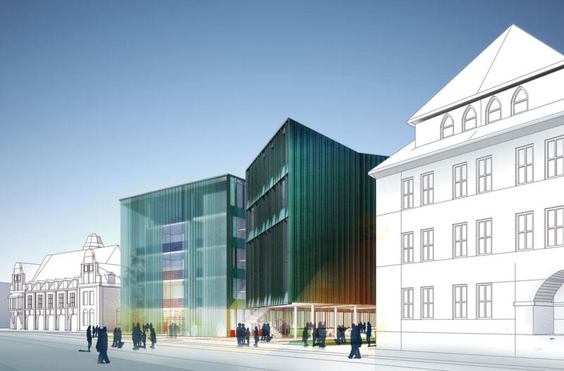 Nowa siedziba Sądu Rejonowego w Nysie, zaprojektowana przez pracownię architektoniczną Atelier Loegler ma uzupełnić pierzeję zabudowy ul. Fryderyka Chopina, według założeń planu miejscowego