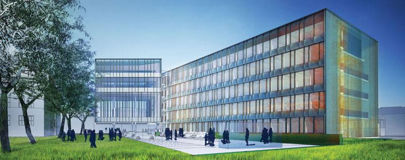 Atrium odgrywa duża rolę w systemie klimatyzacji Sądu rejonowego w Nysie, zaprojektowanego przez pracownię architektoniczną Atelier Loegler