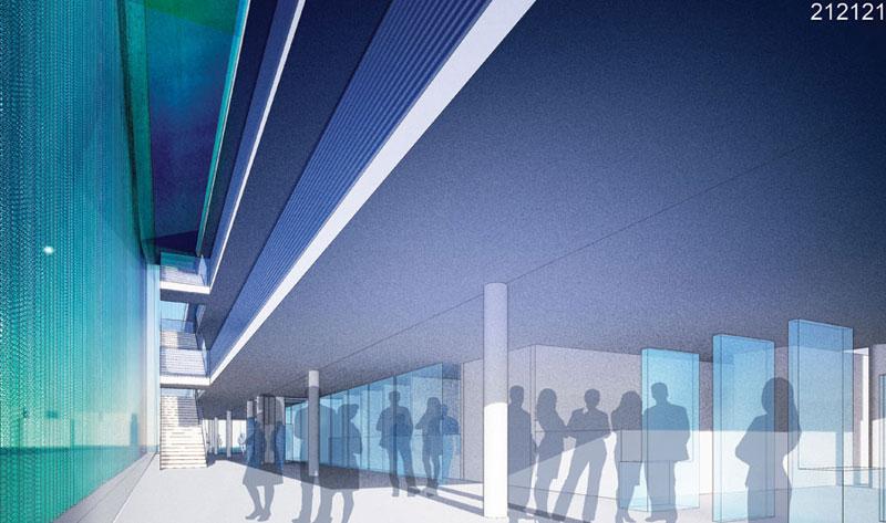 Wnętrze Sądu Rejonowego w Nysie - projekt nagrodzony w konkursie architektonicznym