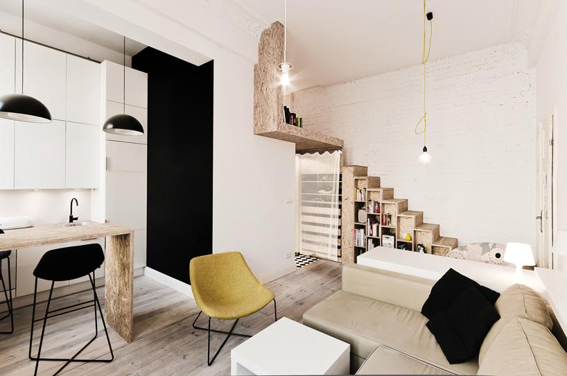 Małe mieszkanie we Wrocławiu: aranżacja wnętrza