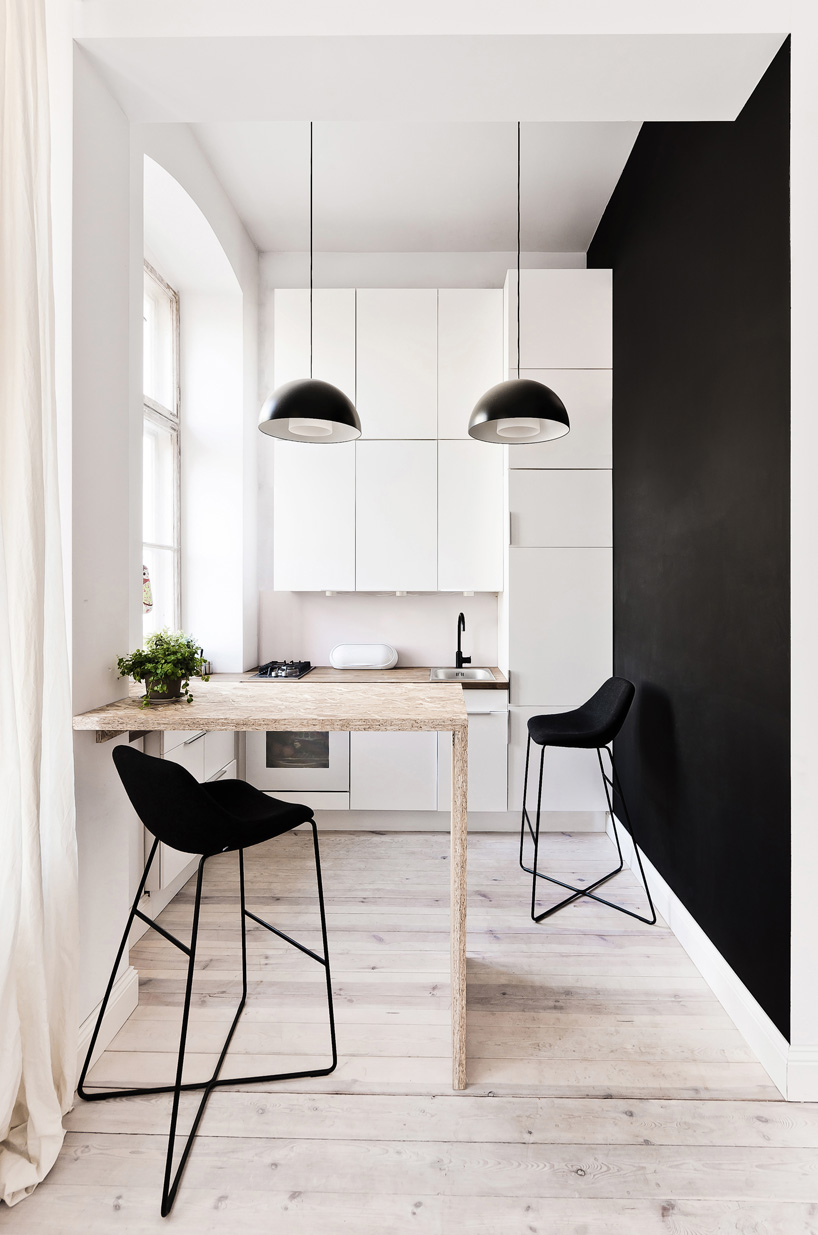 Aranżacja małego mieszkania: kuchnia projektu 3XA