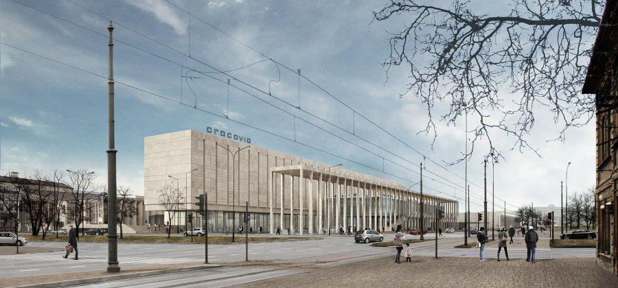 Nova Cracovia. Na pierwszym planie pergola projektu DDJM