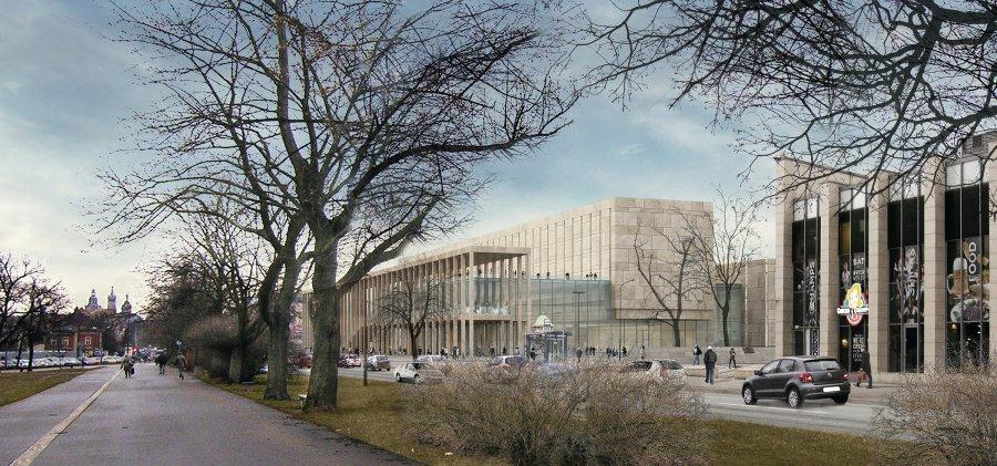 Piaskowiec i szkło - monumentalna bryła nowej Cracovii