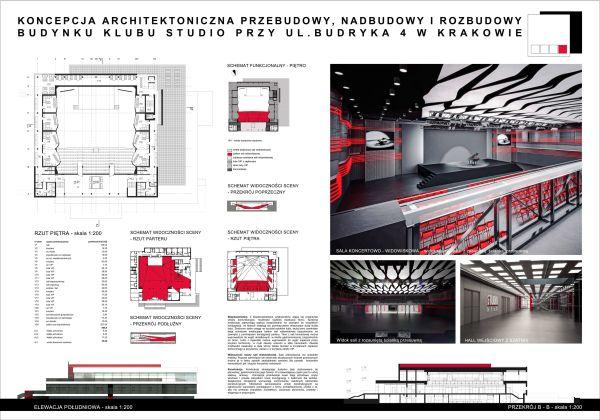 Przebudowa Klubu Studio w Krakowie, Pracownia Projektowa Jerzy Wowczak