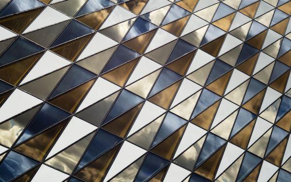 Szklana elewacja, aula Instytutu Karolinska