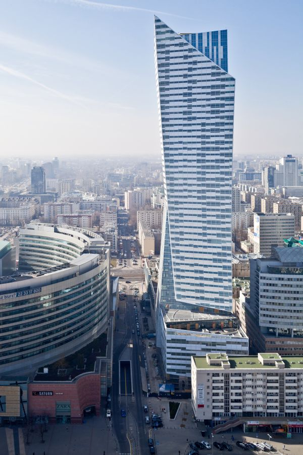 Warszawskie wieżowce, apartamentowiec Złota 44, Daniel Libeskind