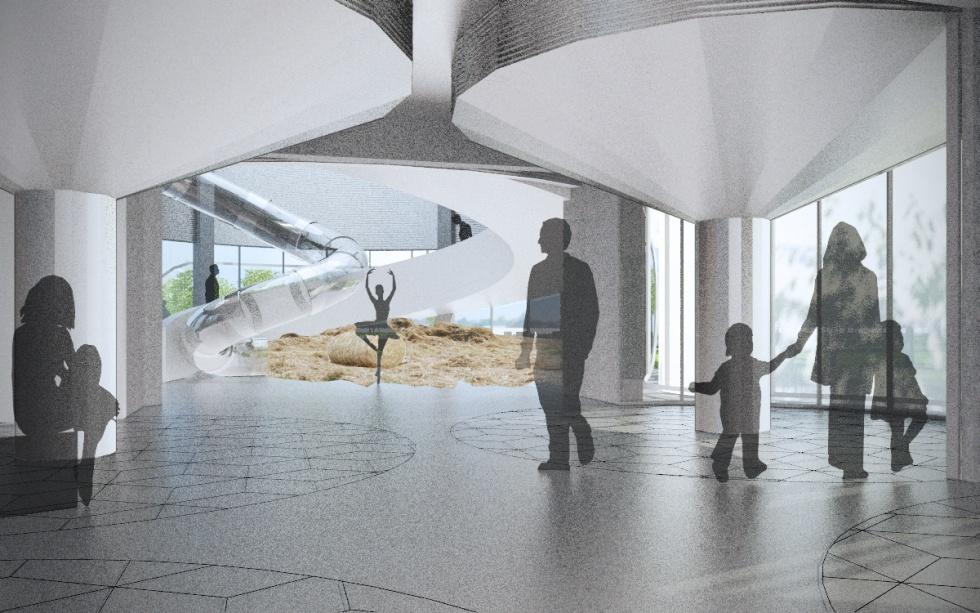 Wnętrze pawilonu wystawowego