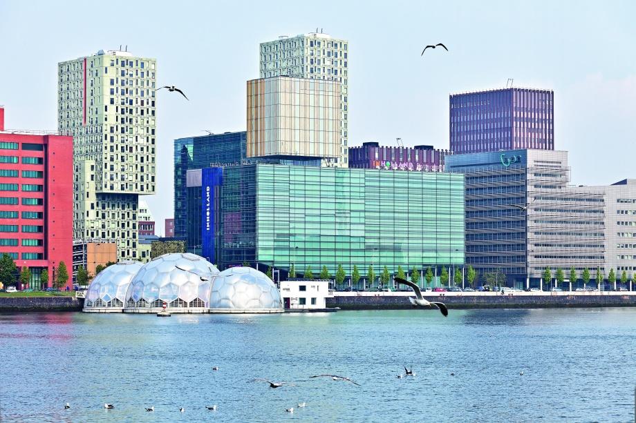Pływający pawilon na wodzie, architektura Holandii