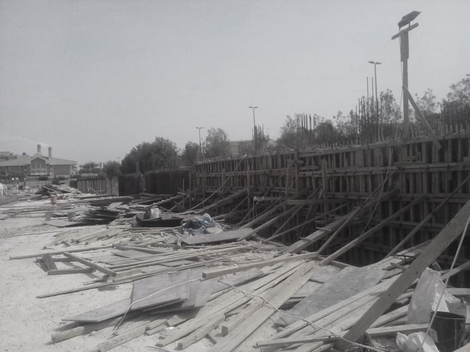 Zdjęcia z budowy, kompleks budynków mieszkalnych