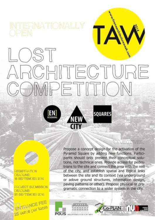 piramida w Tiranie, konkurs architektoniczny