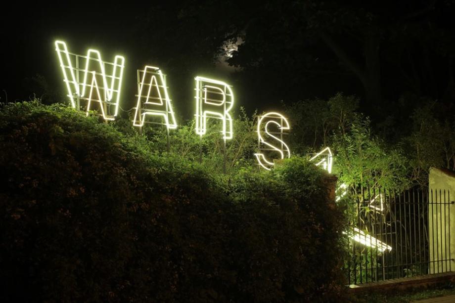 Warszawa Gdańska, neon