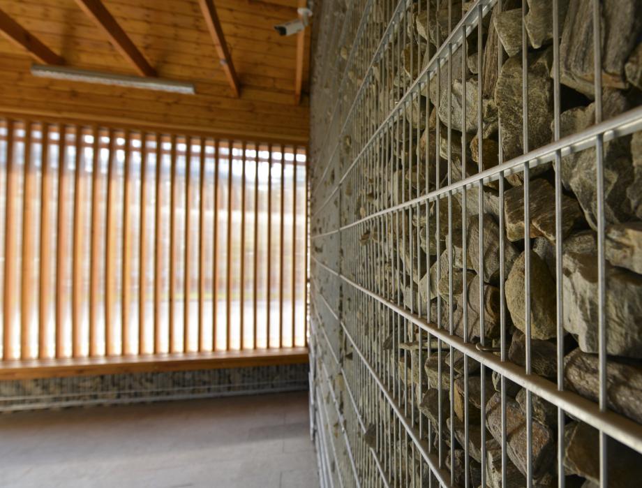Architektura wnętrz, gabiony