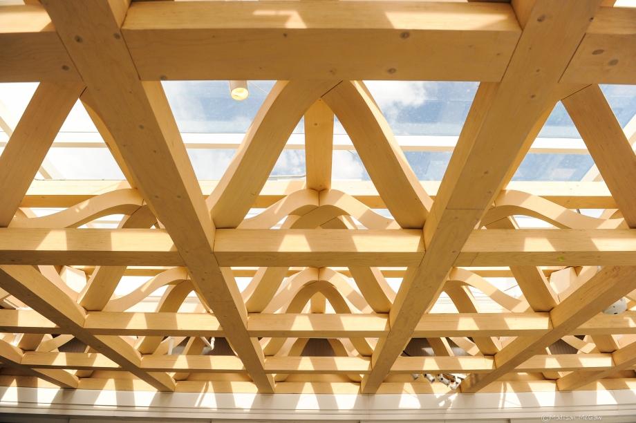 detal konstrukcji dachu Muzeum Sztuki w Aspen