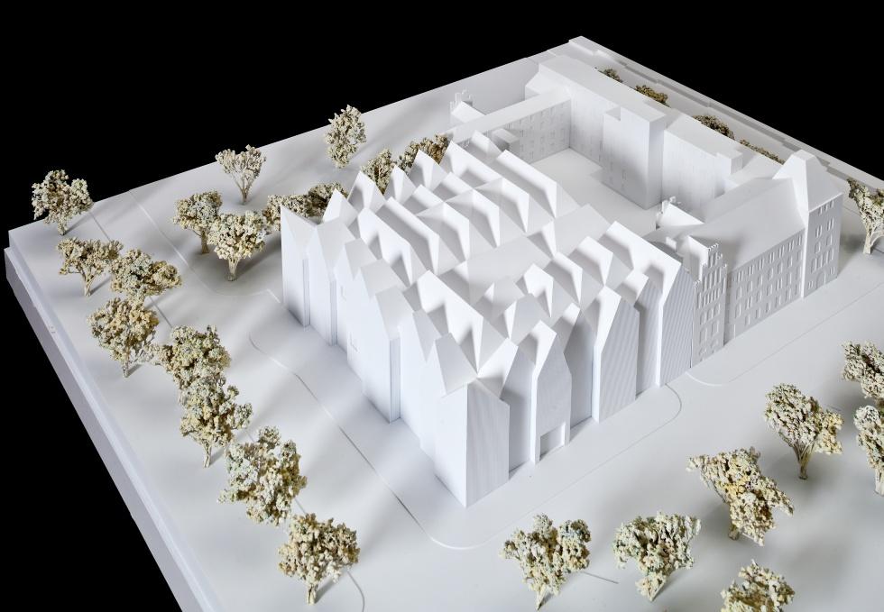Makieta budynku Nowej Filharmonii Szczecińskiej
