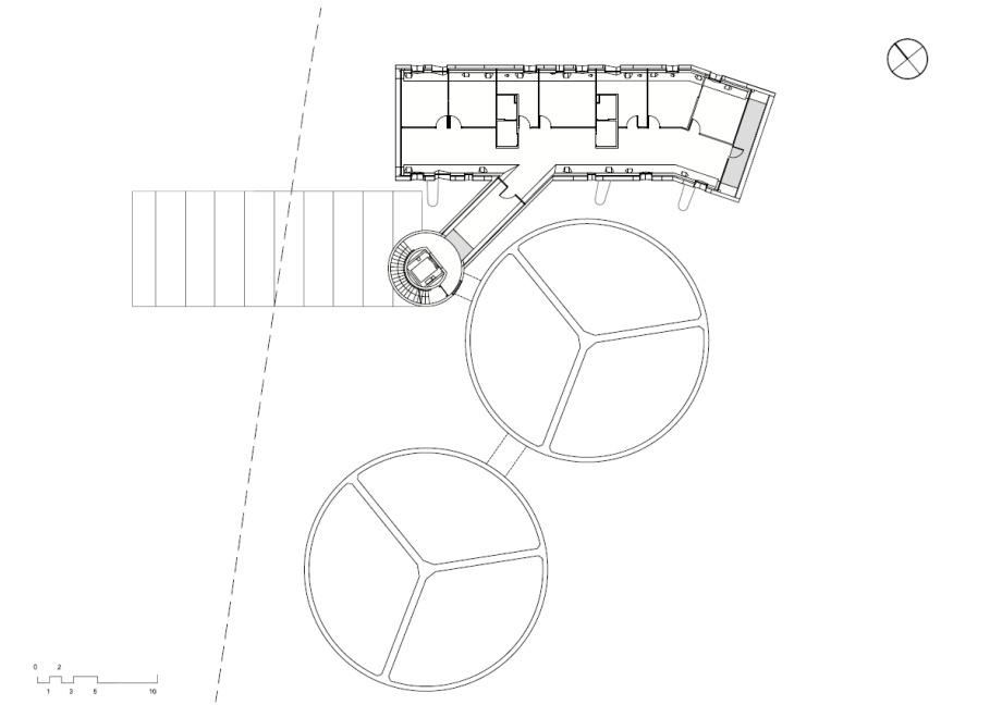 betonowy silos, plan
