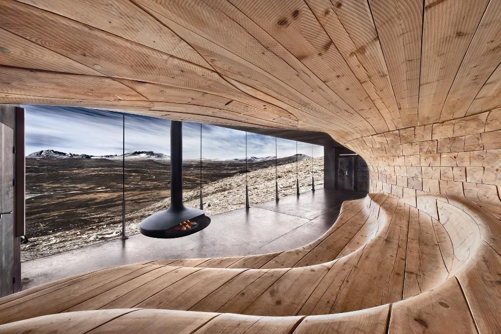 Pawilon obserwacyjny w Górach Skandynawskich