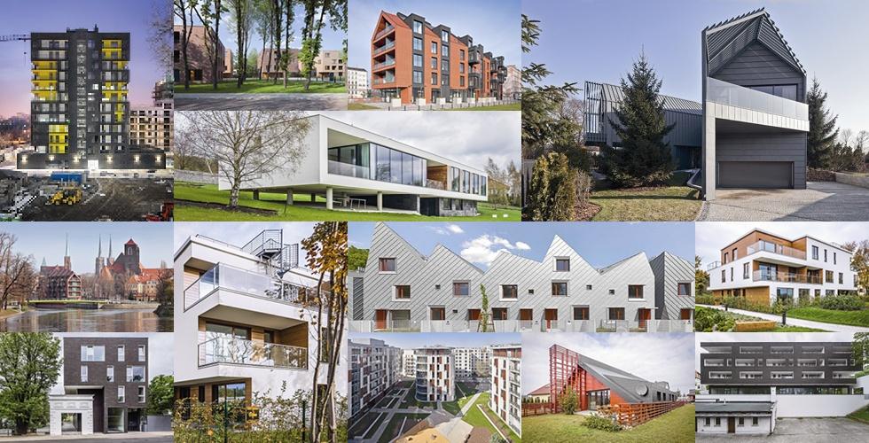 Kolaż budynki mieszkalne